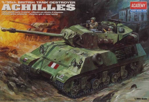 Academy 1:35 British Tank Destroyer Achilles Plastic Model Kit #1392 N/A Academy