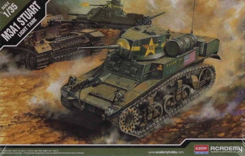 Academy 1:35 M3A1 Stuart Light Tank Plastic Hobby Model Kit #13269 N/A Academy