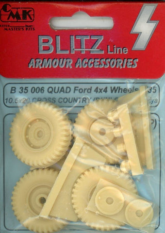 CMK 1:35 Ford Quad 4x4 Wheels 10.5x20 Dunlop Cross Country for Tamiya #B35006 N/A CMK