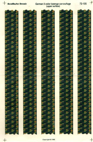 Aero Master Decals 1:72 German 5 Color Lozenge Camouflage Upper Surface #72105 N/A Aero_Master_Decals