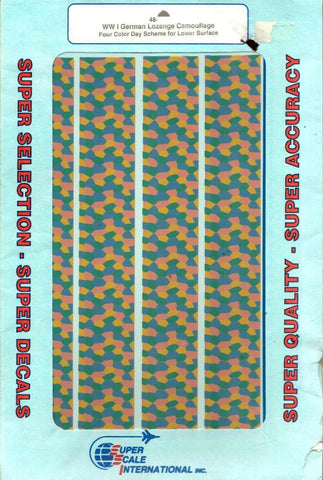 SuperScale Decals 1:48 WWI German Lozenge Camouflage 4 Color Day Scheme #48-101U N/A SuperScale_Decals