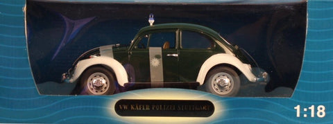 711 Collection 1:18 VW Kafer Polizei Stuttgart Police Diecast Model #71101 N/A 711_Collection