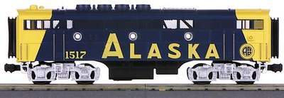 MTH 1:48 O Scale F-3 B-Unit Engine Alaska #1503 3 Rail Powered #20-2128-4