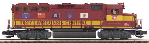 MTH 1:48 O Scale EMD GP-40 Engine Non-Powered Dummy Wisconsin Central #3025 Train #20-2856-3