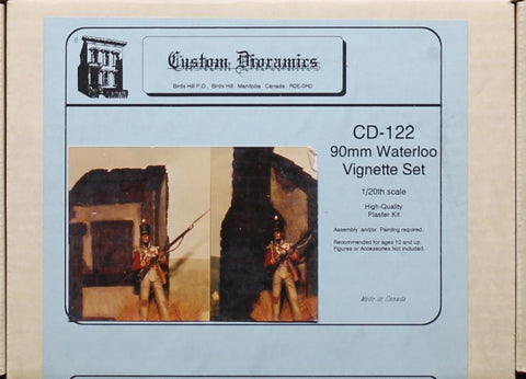 Custom Dioramics 1:20 90mm Waterloo Vignette Set Plaster Diorama Kit #122 N/A Custom Dioramics