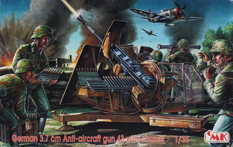 CMK 1:35 German 3.7cm Anti Aircraft Gun 43 With Chassis Plastic Kit #T35005U N/A CMK