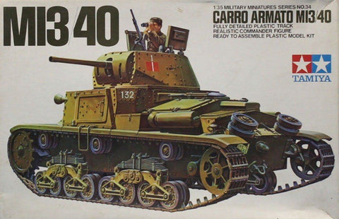 Tamiya 1:35 M13/40 Carro Armato Plastic Model Kit #MM134U N/A Tamiya