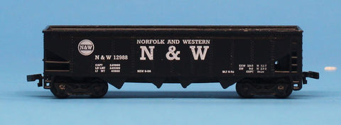 Maisto On Track N Gauge Norfolk and Western N & W 12988 Hopper Car Diecast #MOC06U