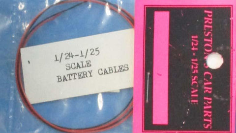 Preston Car Parts 1:24 1:25 Battery Cables Detail Set #03500