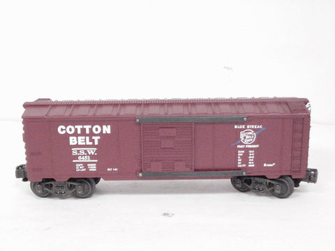 K-Line Electric Trains 1:48 O Scale O27 Cotton Belt Classic Box Car #K6451U