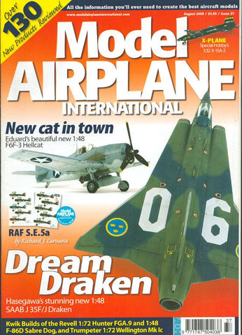 Model Airplane International August 2008 Issue 37 Magazine U1 N/A Model Airplane International