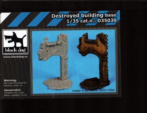 Black Dog 1:35 Destroyed Building Base Resin Diorama Accessory #D35030 N/A Black_Dog