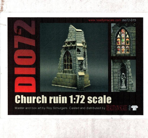 Reality In Scale 1:72 Ruined Church - Resin Diorama Accessory #72015 N/A Reality_In_Scale