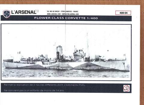 L'Arsenal 1:400 Flower Class Corvette Multimedia Model Kit #40004 N/A LArsenal
