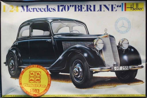 Heller 1:24 Mercedes 170 Berline Plastic Model Kit #725U N/A Heller