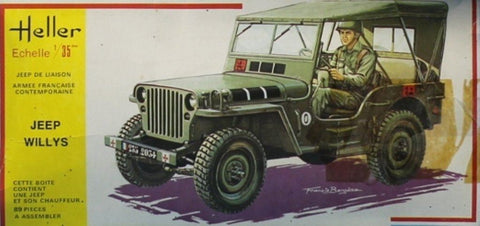 Heller 1:35 Jeep Willys Plastic Model Kit #194U N/A Heller