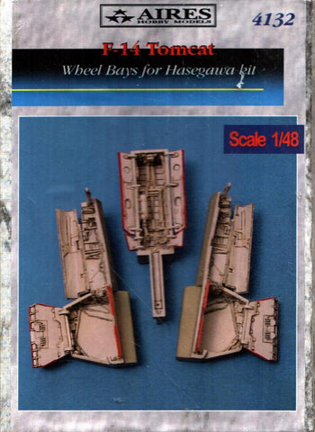 Aires 1:48 F-14 Tomcat Wheel Bay for Hasegawa Kit - Resin Update #4132 N/A Aires