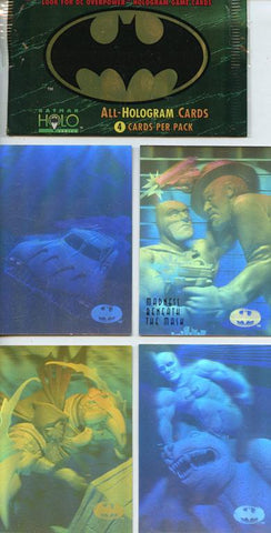 Skybox Batman Holo All-Hologram Cards 4 per Pack #64102 N/A Skybox