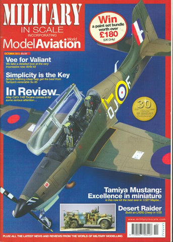 Military In Scale Model Aviation October 2011 Issue Magazine U N/A Military In Scale