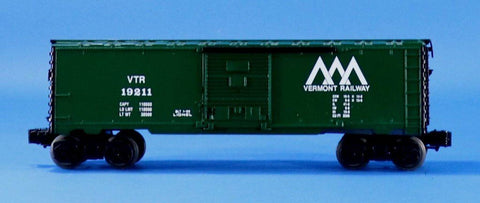 Lionel Electric O Gauge Trains Vermont Railway VTR #19211 Box Car Boxcar #LLC97U