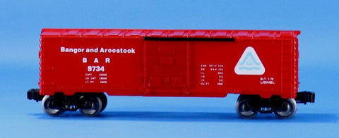Lionel O Gauge Trains Banger and Aroostook BAR #9734 Box Car Boxcar #LLC98U
