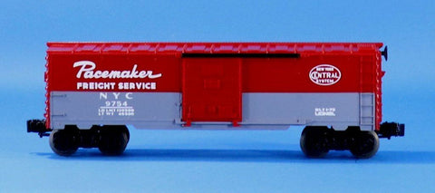 Lionel Electric O Gauge Trains Pacemaker Freight Service NYC #9754 Box Car #LLC99U