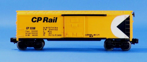 Lionel Electric O Gauge Trains CP 9208 Rail Box Car Boxcar #LLC103U