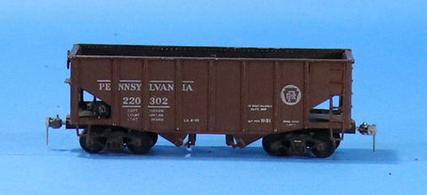 HO Gauge Craftsman Pennsylvania #220302 2-Bay Hopper Car #OEMcar01U