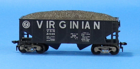 HO Gauge VGN Virginian #23335 2-Bay Hopper w/ Load Car #OEMcar04U