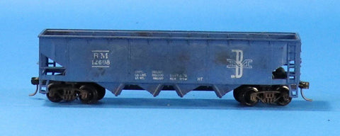 Tyco HO Gauge Boston & Maine BM #12608 Hopper Car #TOC01U