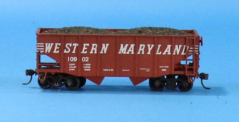 HO Gauge Western Maryland #10902 Hopper w/ Load Car #OEMcar06U