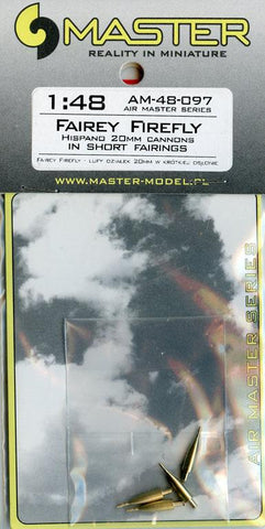 Master Model 1:48 Fairey Firefly Hispand 20mm Cannons In Short Fairings #AM48097 N/A Master Model