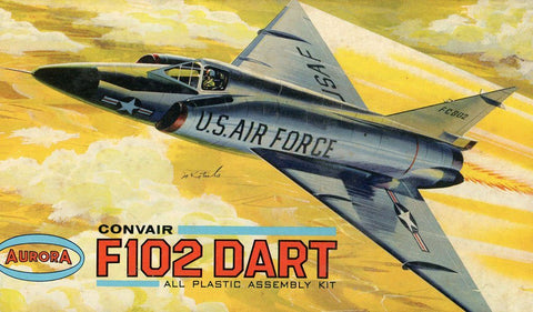 Aurora 1:21 F-102 Dart Plastic Model Kit #29039U