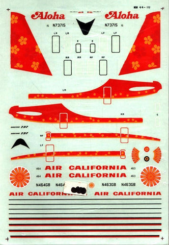 Microscale Decals 1:144 Aloha Airlines Boeing 737 for Airfix Decal Sheet #44-10U N/A Microscale_Decals
