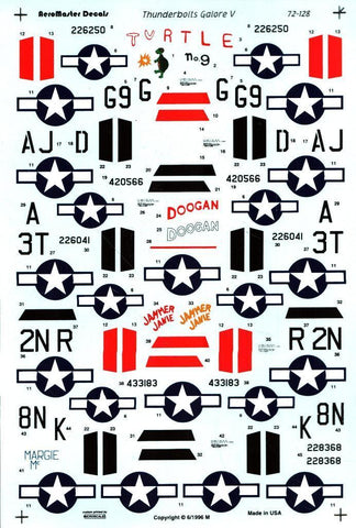 Aero Master Decals 1:72 P-47 Thunderbolts Galore V #72-128 N/A Aero_Master_Decals