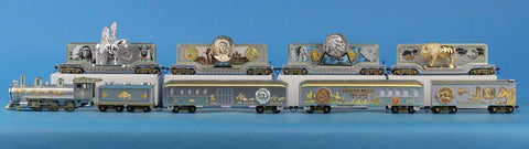 Bachmann HO Gauge Indian Nickel Train Set 1 Engine w/ 8 Cars #BNC25U N/A Bachmann