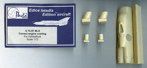 Pavla Models 1:72 Mi-8 Correct Engine Cowling For Hobby Boss Resin Set #U7297U