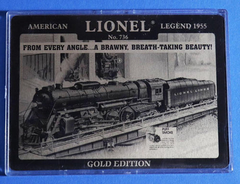 Lionel Gold Edition Trading Card American Legend 1955 #736