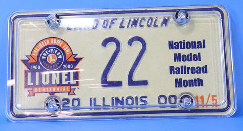 Lionel License Plate Illinois 22 #ill1
