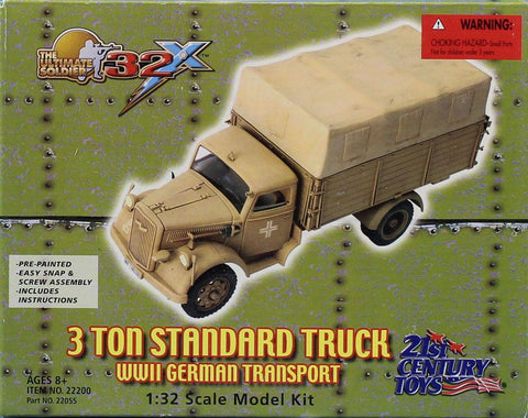 21st Century Toys 1:32 3 Ton Standard Truck WWII German Transport Kit #22200U N/A 21st Century Toys