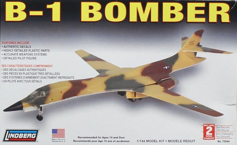 Lindberg 1:144 B-1 Bomber Plastic Aircraft Model Kit #70544