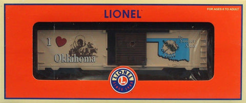 Lionel O Gauge I Love Oklahoma #29932 The Sooner State Boxcar Box Car #6-29932U N/A Lionel