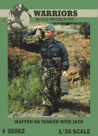 Warriors 1:35 Waffen SS Tanker with jack Resin Figure Kit #35062X