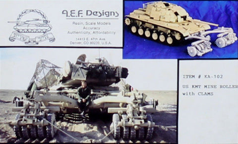 AEF Design 1:35 US KMT Mine Roller With Clams Resin Model Kit #KA-102 N/A AEF Designs