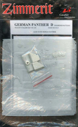 Cavalier Zimmerit 1:35 German Panther D Diamond Pattern for Italeri #0113 N/A Cavalier Model