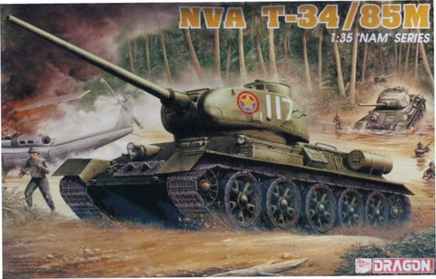 Dragon DML 1:35 NAM Series NVA T-34/85M Plastic Model Kit #3318U N/A Dragon_DML