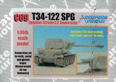 Accurate Armour 1:35 T-34-122 SPG Egyptian 122mm S.P Conversion Set Set #C69 N/A Accurate_Armour