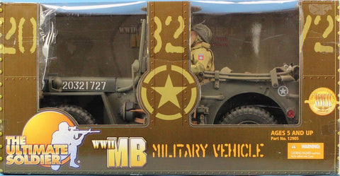 21st Century Toys Ultimate Soldier 1:6 WWII MB Jeep #20321727 Military Vehicle Car #12905U