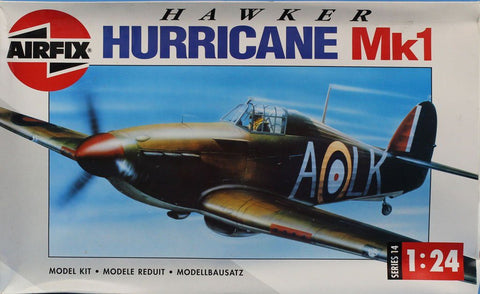 Airfix 1:24 Hawker Hurricane Mk1 Series 14 Plastic Aircraft Model Kit #14002U1