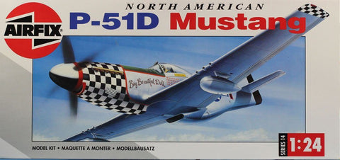 Airfix 1:24 North American P-51D Mustang Plastic Aircraft Model Kit #14001U3
